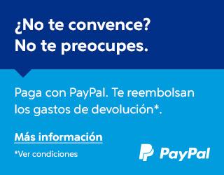 Portes gratis de devolución con paypal